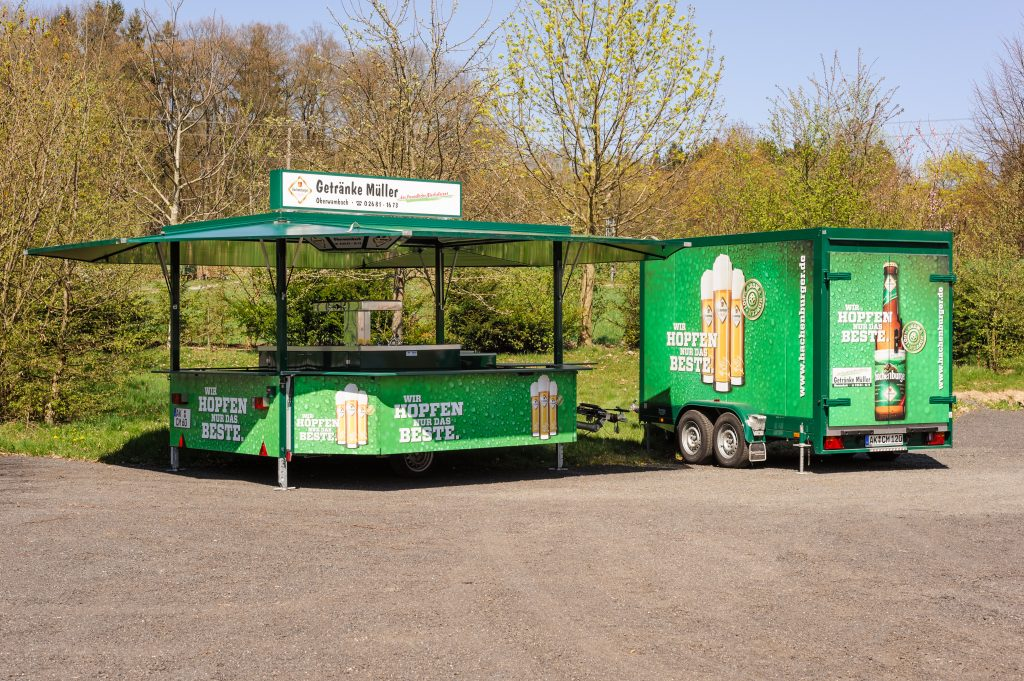 Verkaufswagen »Hachenburger« mit Kühlwagen
