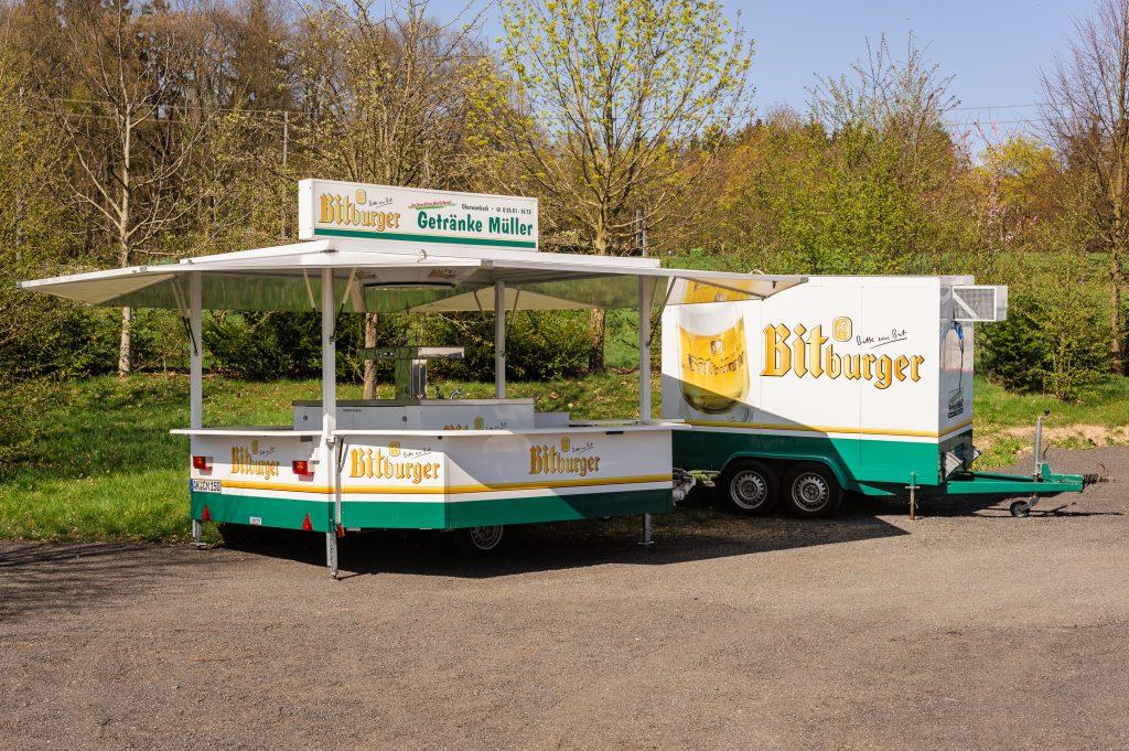 Verkaufswagen »Bitburger« mit Kühlwagen